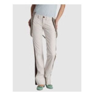 Striped pants with removable suspenders